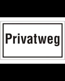 Schilder rund um´s Haus: Privatweg, weiß/schwarz, Kunststoff, 250 x 150 mm, Best. Nr. 3065