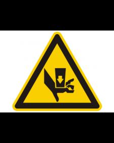 Warnschild: Quetschgefahr durch Einpresswerkzeug, Best. Nr. 3873