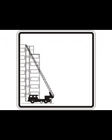 Brandschutzschild: Rettungsweg, weiß/schwarz, 500 x 500 mm, mit frei zu beschriftender Zusatzfläche, Best. Nr. 3786