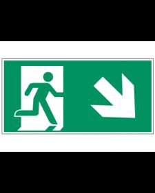 Fluchtwegzeichen: Rettungsweg Treppe runter rechts, Best. Nr. 3604