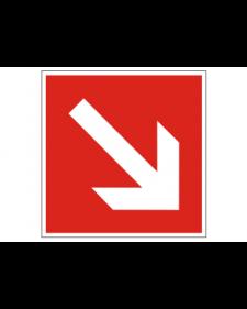 Brandschutzschild: Richtungsanzeige diagonal, Best. Nr. 3700
