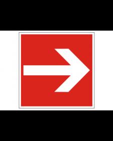 Brandschutzschild: Richtungsanzeige gerade, Best.‑Nr.3701