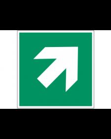 Rettungszeichen: Richtungspfeil, diagonal, Best. Nr. 3692
