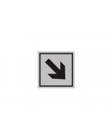 Innenschild: Richtungsweiser, diagonal, Aluminium, selbstklebend, 50 x 50 mm, Best.-Nr. 3007