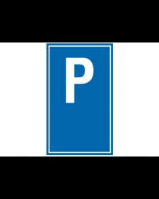 Parkplatzbeschilderung: Parkplatzschild mit Aufschrift nach Wahl, blau/weiß, Best.‑Nr.3305