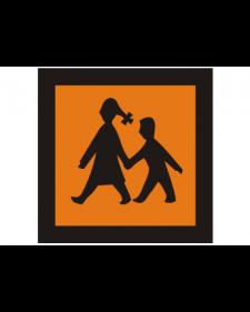 Verkehrszusatzschild: Schulbus, orange/schwarz reflek., Best.‑Nr.4095