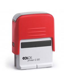Stempel COLOP PR C20, selbstfärbend, 4 Zeilen, frei beschriftbar, 14x38mm, Best.‑Nr.4420