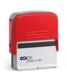 Stempel COLOP PR C40, selbstfärbend, 6 Zeilen, frei beschriftbar, 23x59mm, Best.‑Nr.4440