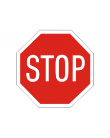 Verkehrsschild: Stop, Bild‑Nr.206, rot/weiß, reflektierend, Alu,2mm, Best.‑Nr.4040