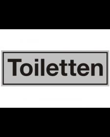 Innenschild: Toiletten, Aluminium, selbstklebend, 150 x 50 mm, Best.‑Nr.3000