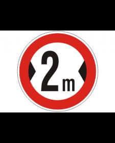 Verkehrsschild: Verbot für Fahrzeuge über angegebener Breite, Bild-Nr. 264, weiß/schwarz+rot, reflektierend, Alu, 2 mm, Best. Nr. 4002