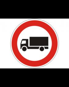 Verkehrsschild: Verbot für LKW über 3,5t, Bild-Nr. 253, weiß/schwarz+rot, reflektierend, Alu, 2 mm, Best. Nr. 4001