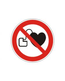 Verbotsschild: Verbot für Personen mit Herzschrittmacher, Best. Nr. 3412