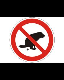 Verbotsschild: Hier kein Hundeklo, Best.‑Nr.3150
