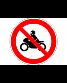 """Verbotsschild """"Für Motorräder verboten"""", Best.‑Nr.3448"""