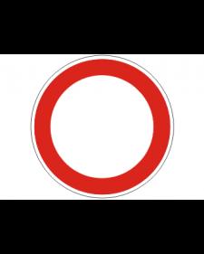 Verkehrsschild: Durchfahrt verboten, Bild‑Nr.250, weiß/rot, reflektierend, Alu, 2 mm, Best.‑Nr.4000