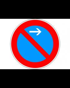 Verkehrsschild: Eingeschränktes Haltverbot Anfang, Linksaufstellung, Bild‑Nr.286‑21, blau/rot, Best.‑Nr.4081al