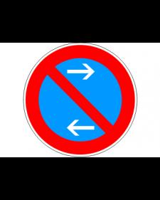 Verkehrsschild: Eingeschränktes Haltverbot Mitte, Linksaufstellung, Bild‑Nr.286‑31, blau/rot, Best.‑Nr.4081ml