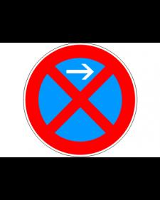 Verkehrsschild: Absolutes Haltverbot Anfang, Linksaufstellung, Bild‑Nr.283‑21, blau/rot, Best.‑Nr.4080al