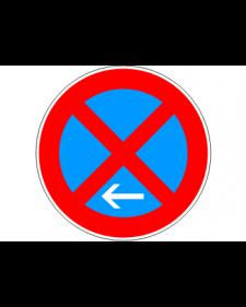 Verkehrsschild: Absolutes Haltverbot Ende, Linksaufstellung, Bild‑Nr.283‑11, blau/rot, Best.‑Nr.4080el
