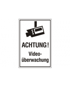 Innenschild: Videoüberwachung, Kunststoff, 200x300mm, Best.‑Nr.3035