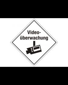 Innenschild: Videoüberwachung, selbstklebende Folie, 100x100mm, Best.‑Nr.3036