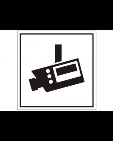 Innenschild: Videoüberwachung, selbstklebende Folie, 100x100mm, Best.‑Nr.3037