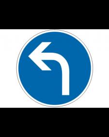 Verkehrsschild: Vorgeschriebene Fahrtrichtung links, Bild-Nr. 209 - 10, blau/weiß, reflektierend, Alu, 2 mm, Best. Nr. 4050