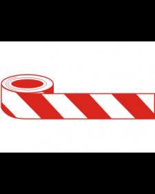 Absperrband (Flatterband), 500 m x 80 mm, weiß/rot, Polyethylen, Best.-Nr.-4345