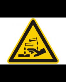 Warnschild: Warnung vor ätzenden Stoffen, Best. Nr. 3825