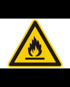 Warnschild: Warnung vor feuergefährlichen Stoffen, Best. Nr. 3828