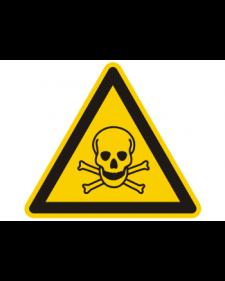 Warnschild: Warnung vor giftigen Stoffen, Best.‑Nr.3829