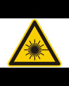 Warnschild: Warnung vor Laserstrahlen, Best.‑Nr.3831