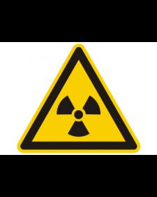 Warnschild: Warnung vor radioaktiven Stoffen oder Strahlen, Best. Nr. 3826