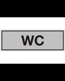 Innenschild: WC, Aluminium, selbstklebend, 150 x 50 mm, Best.-Nr. 3003