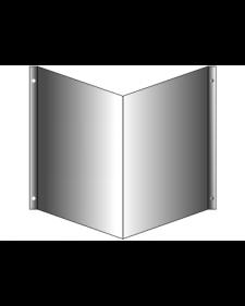 Winkelschild, Aluminium roh, 2mm stark, mit Bohrungen, Best.‑Nr.3714