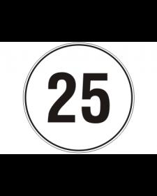 Verkehrszusatzschild: Geschwindigkeitsschild, weiß/schwarz, 200mm, Best.‑Nr.4085