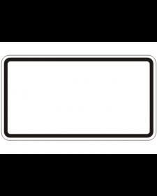 Verkehrszusatzschild: Zusatzschild neutral, weiß/schwarz, reflektierend, Alu, 2 mm, 420 x 230 mm, Best. Nr. 4060
