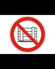 Verbotsschild: Abstellen oder Lagern verboten, Best.Nr.-3423