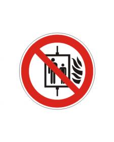 Verbotsschild: Aufzug im Brandfall nicht benutzen, Best.Nr.-3422