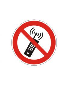 Verbotsschild: Eingeschaltete Mobiltelefone verboten, Best.-Nr.3419