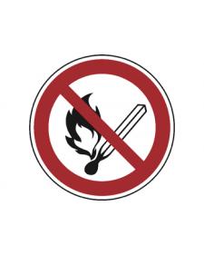 Verbotsschild: Feuer, offenes Licht und Rauchen verboten, Best.‑Nr.3479