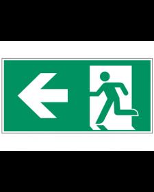 Fluchtwegzeichen: Notausgang links, Best.-Nr.3601