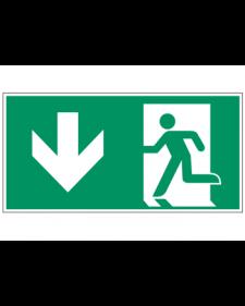 Fluchtwegzeichen: Notausgang unten, Best.‑Nr.3603
