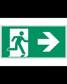 Fluchtwegzeichen: Notausgang rechts, Best.-Nr.3600