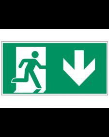 Fluchtwegzeichen: Notausgang unten, Best.‑Nr.3602