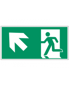 Fluchtwegzeichen: Rettungsweg Treppe rauf links, Best. Nr. 3607