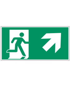 Fluchtwegzeichen: Rettungsweg Treppe rauf rechts, Best. Nr. 3606