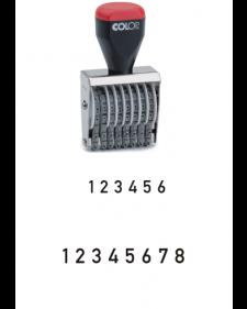 Stempel: COLOP-Bänderstempel, Ziffern, 4‑5 mm Schrifthöhe, 6 oder 8 Bänder, Best.‑Nr.4466-67