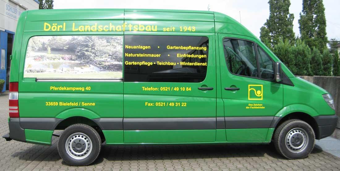 Fahrzeugbeschriftung von Schilder Warweg aus Bielefeld